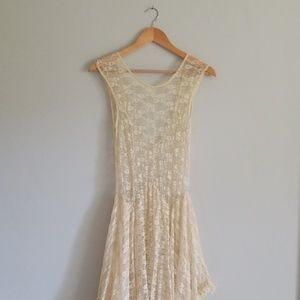 Free People French Court Lace Slip Dress